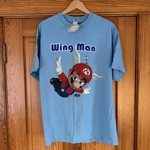 """*RARE* Vintage Super Mario 64 """"Wing Man"""" Tee"""